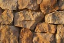 Stone wall with evening sunlight has been viewed 5890 times