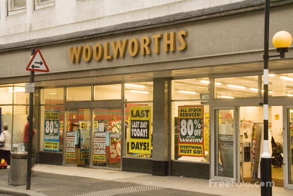 Picture of Woolworths closing down - Free Pictures - FreeFoto.com
