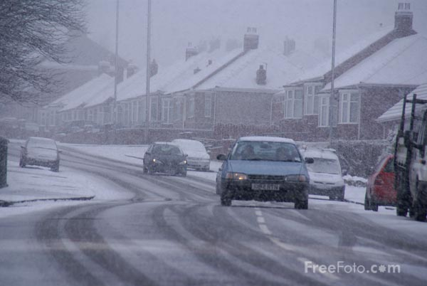 Picture of Winter snow in Gateshead - Free Pictures - FreeFoto.com