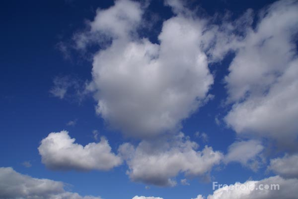 Picture of Clouds and Blue Sky - Free Pictures - FreeFoto.com