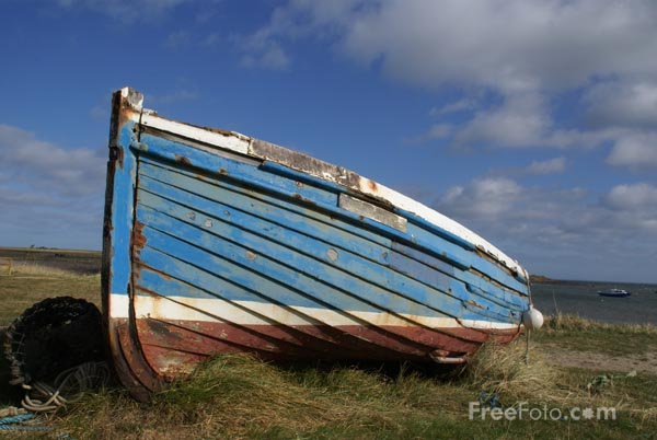 Picture of Fishing Boat Holy Island - Free Pictures - FreeFoto.com