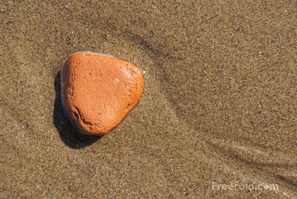 Picture of Pebble and sand - Free Pictures - FreeFoto.com