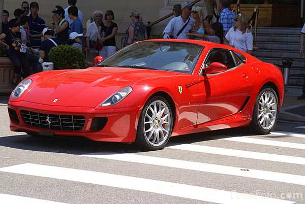 red ferrari sports car
