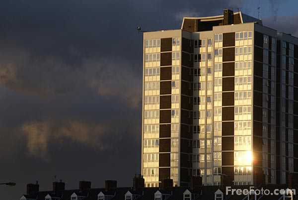 Picture of Shieldfield flats, Newcastle upon tyne - Free Pictures - FreeFoto.com