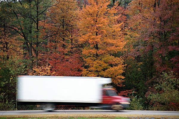 Picture of Truck with Fall Colors - Free Pictures - FreeFoto.com
