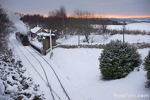Picture of Tanfield Railway in the winter - Free Pictures - FreeFoto.com