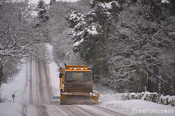 Picture of Snow plough on the A68 - Free Pictures - FreeFoto.com