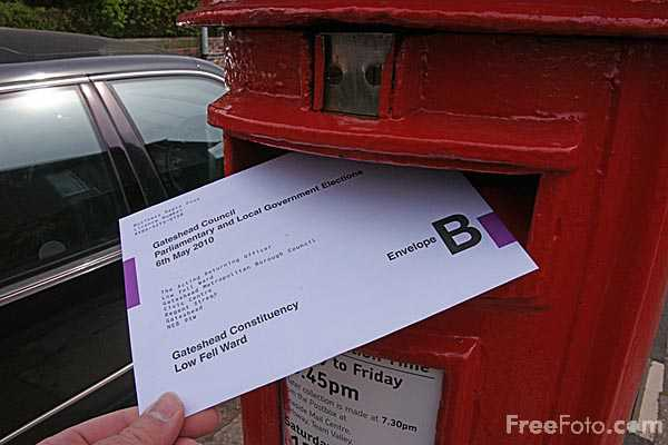 Picture of Postal Vote - Free Pictures - FreeFoto.com