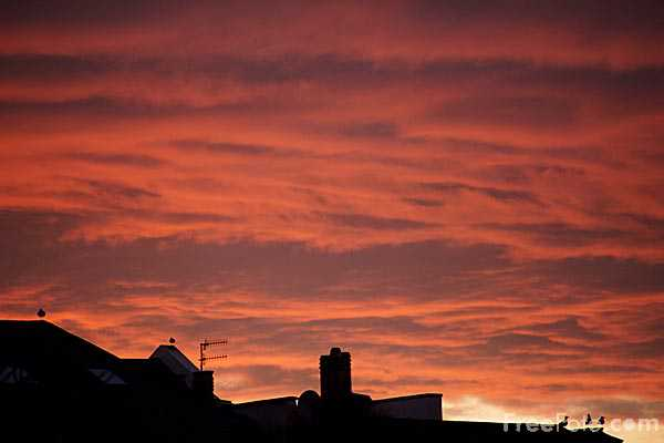 Picture of Sunset, Plymouth, Devon, - Free Pictures - FreeFoto.com