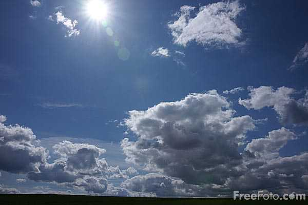Picture of Blue Sky and Clouds - Free Pictures - FreeFoto.com