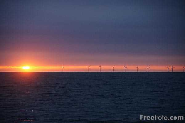 Picture of Rhyl Flats Offshore Wind Farm - Free Pictures - FreeFoto.com