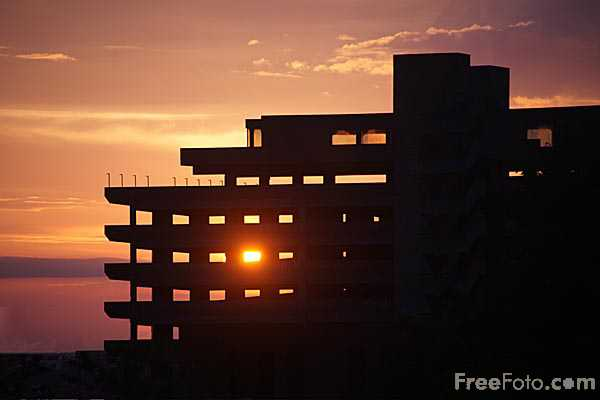 Picture of Sunrise, Get Carter Car Park - Free Pictures - FreeFoto.com