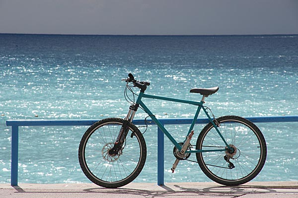 Picture of Bicycle by the sea - Free Pictures - FreeFoto.com