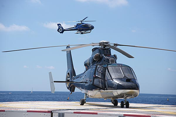 Picture of Aerospatiale SA-365N Dauphin 2 at Monaco Heliport - Free Pictures - FreeFoto.com