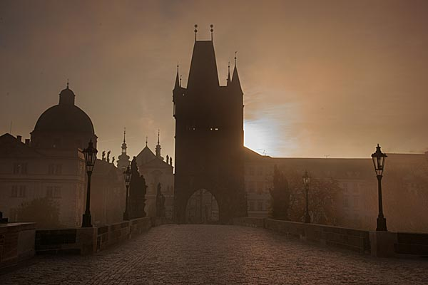 Picture of Charles bridge at dawn - Free Pictures - FreeFoto.com
