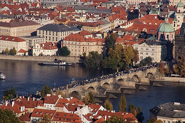 Picture of View of Prague from the Petrin Watchtower - Free Pictures - FreeFoto.com
