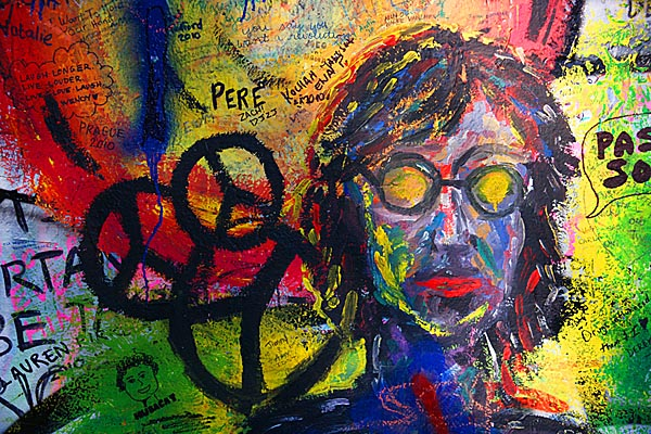 Picture of John Lennon Wall in Prague - Free Pictures - FreeFoto.com