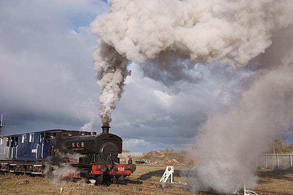 Picture of Andrew Barclay 0-4-0 Saddle Tank No 22 on the Bowes Railway. - Free Pictures - FreeFoto.com
