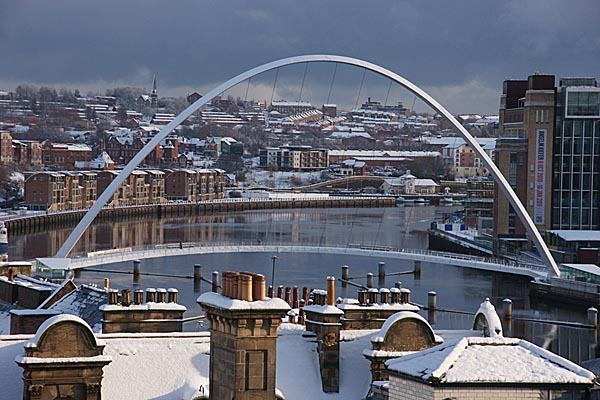 Picture of Newcastle Gateshead Quayside in Winter - Free Pictures - FreeFoto.com