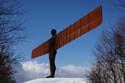 Gateshead Angel in the snow has been viewed 3989 times