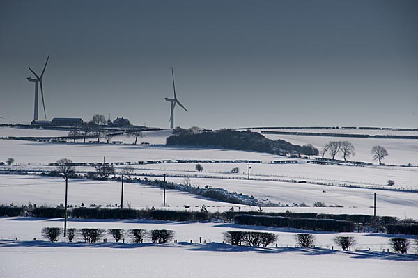 Picture of Haswell Moor wind farm - Free Pictures - FreeFoto.com