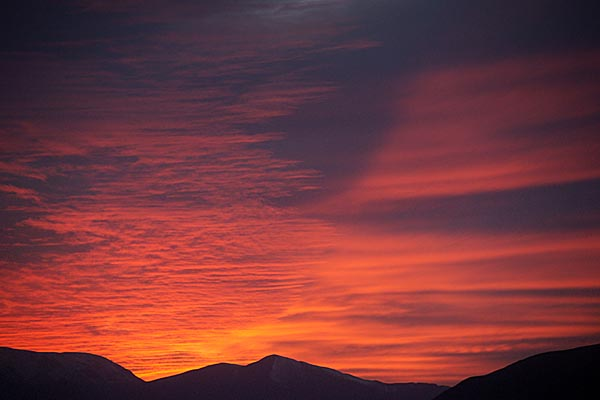 Picture of Sunset, Lake District National Park, Cumbria - Free Pictures - FreeFoto.com