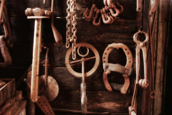 Picture of Old workshop tools - Free Pictures - FreeFoto.com