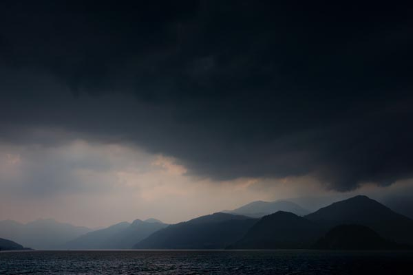 Picture of Storm Clouds, Lake Como - Free Pictures - FreeFoto.com