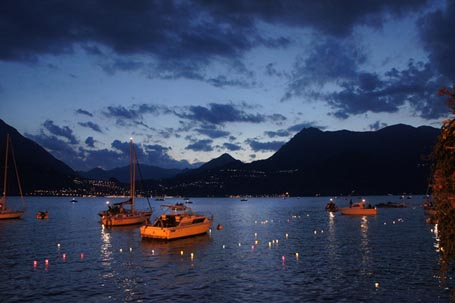 Picture of Floating Candles, Varenna, Lake Como - Free Pictures - FreeFoto.com